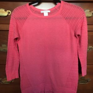 Coral knit sweater. Design History. Size XS.